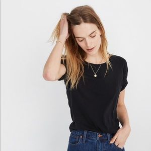 Madewell Whisper Cotton Crewneck Tee Black M
